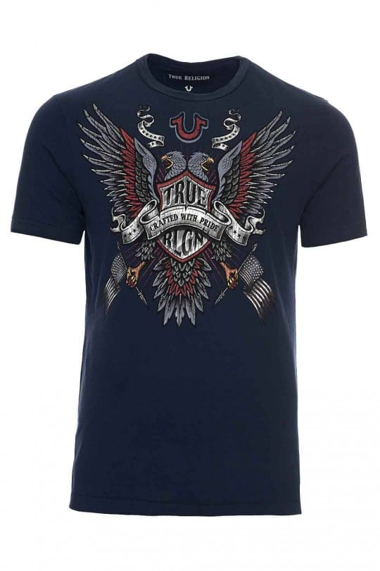T-SHIRT TRUE RELIGION ΜΠΛΕ