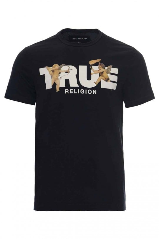 T-SHIRT TRUE RELIGION ΜΑΥΡΟ