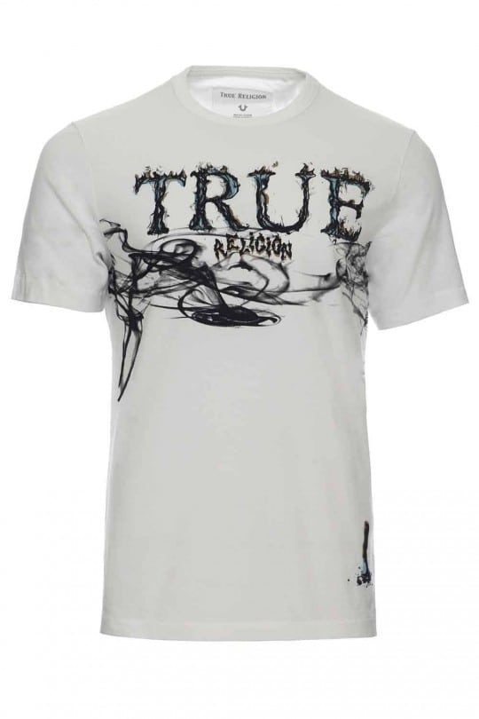 T-SHIRT TRUE RELIGION ΛΕΥΚΟ