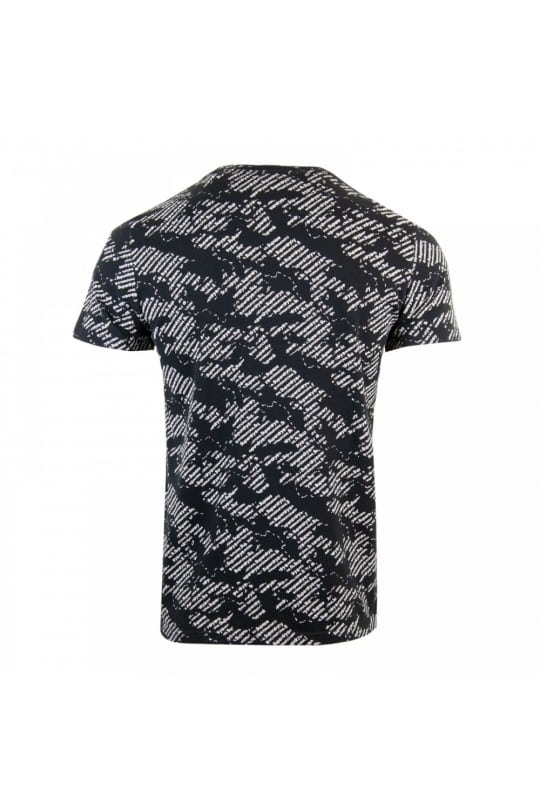 T-SHIRT SUPER DRY ΜΑΥΡΟ ΜΕ ΤΥΠΩΜΑ ALL OVER