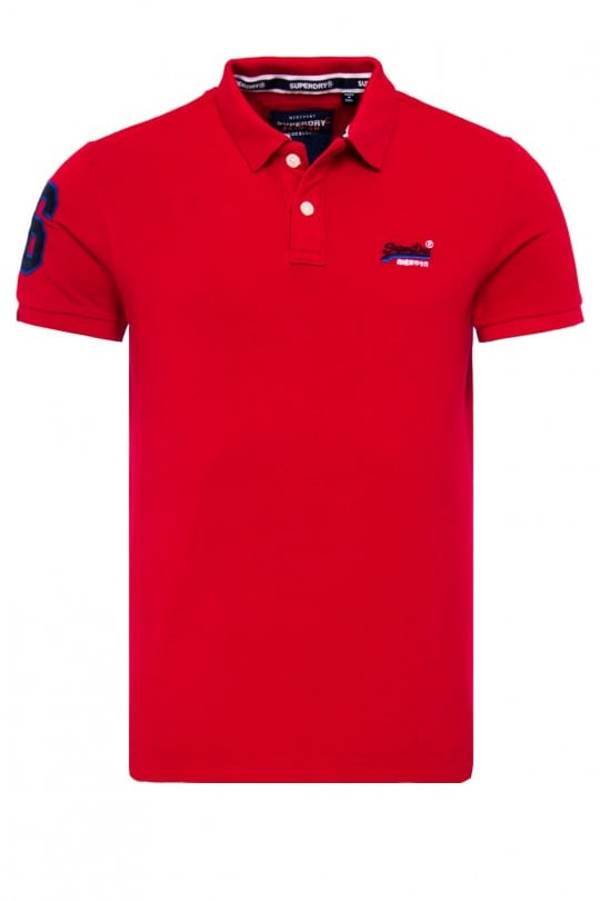 Polo Superdry Κόκκινο
